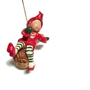 Swinging Fairy Acorn Christmas Ornament